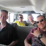 van ride to the Villagio Mall
