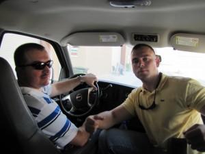 Hunnicutt & I in the car