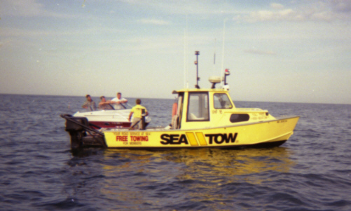 sea-tow filling someone up